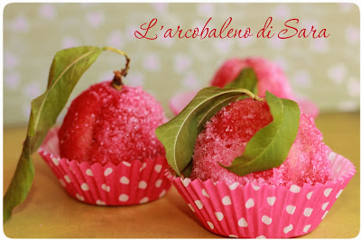 pesche dolci all'alchermes