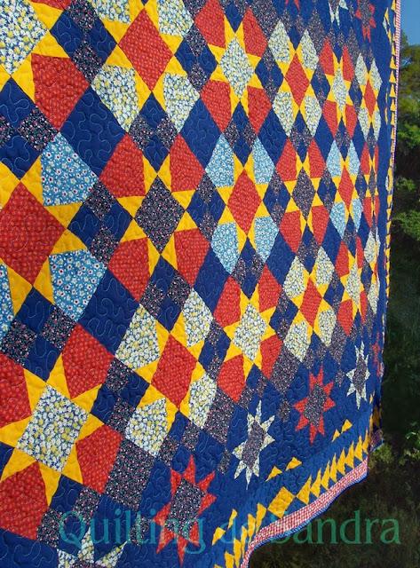 "Quilt ""Estrellas del Sur"" vista parcial"