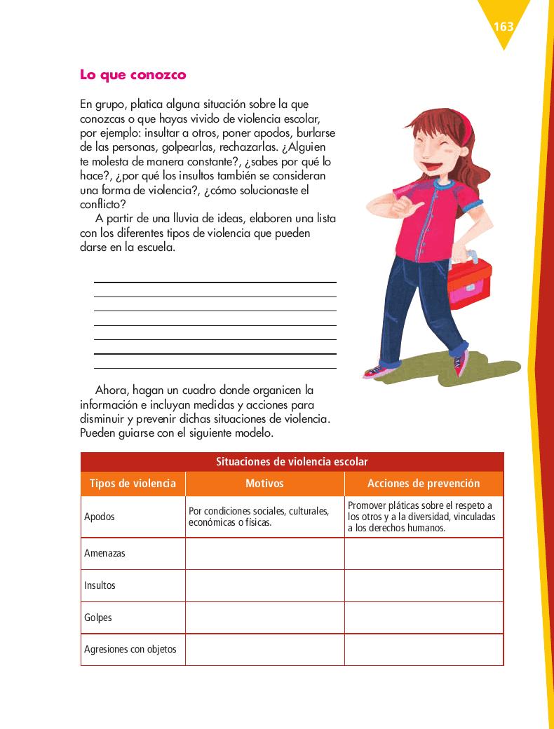 Elaborar un triptíco sobre la prevención del bullying en la comunidad escolar - Español 5to Bloque 5 2014-2015