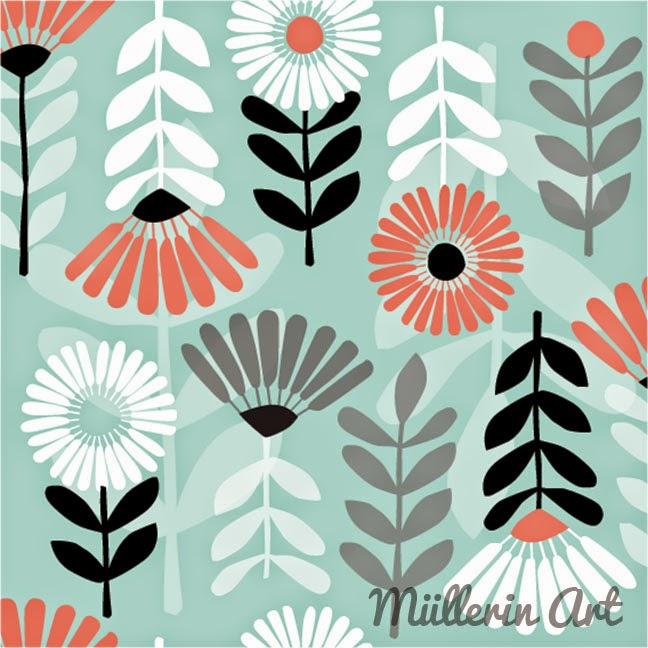 Blütenmuster nach Müllerin Art