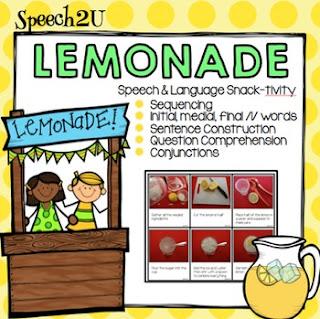https://www.teacherspayteachers.com/Product/Lemonade-Snacktivity-WH-questions-Articulation-L-Sequencing-Verb-tense-1858712