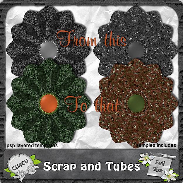 Autumn Flower Templates (CU4CU) Autumn+Flower+Templates_Preview_Scrap+and+Tubes