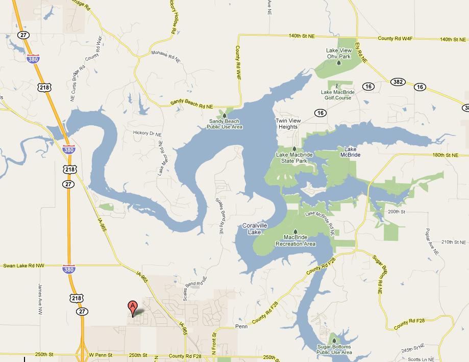Currents Iowa River And Lake MacBride - Iowa river map