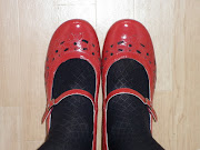 Anyway, these particular red shoes are more suitable for playing hopscotch .