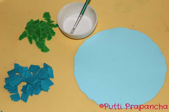 Playdough Earth Day Mosaics