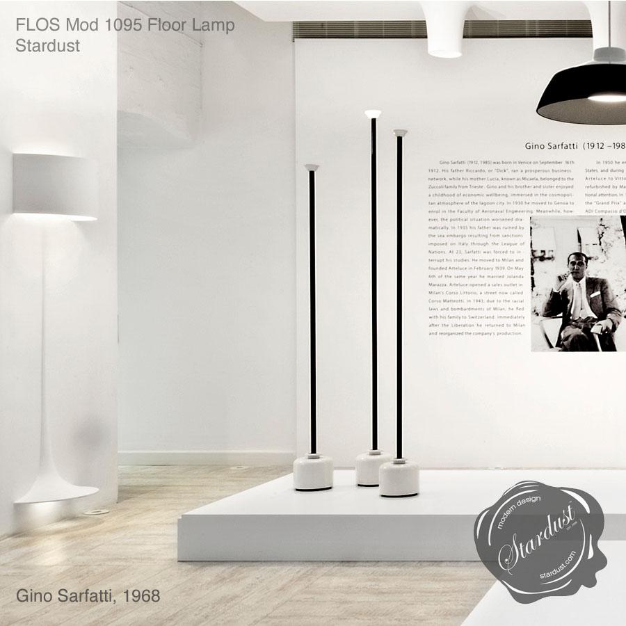 Model 1095 by gino sarfatti flos floor lamp for Gino sarfatti flos