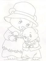 risco de ursas tomando sorvete