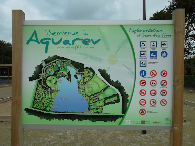 Aquarev Loudeac leisure park map sign