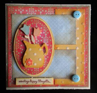Cricut, Kate's ABC's, Tim Holtz Tea Dye Distress Ink, Fiskars stamps, Friendship Card