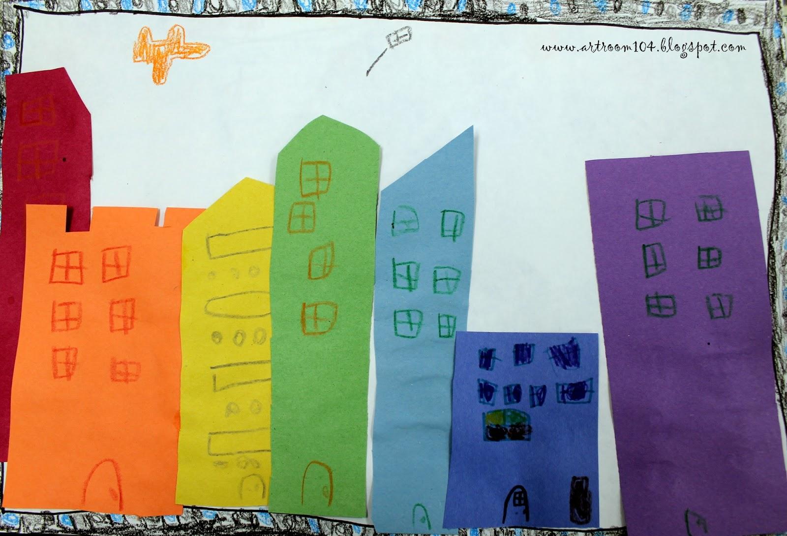 Art Room 104: Kindergarten Rainbow Cities