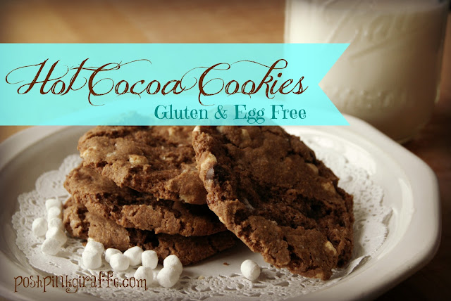 Gluten & Egg Free Hot Cocoa Cookies from Posh Pink Giraffe