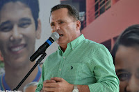 Sérgio Miranda no dia 16/10/2015 em inauguração da reforma com verbas do FEM do EREMPA