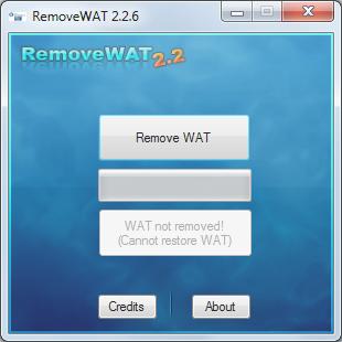 Mengatasi WAT dengan removeWAT 2.2