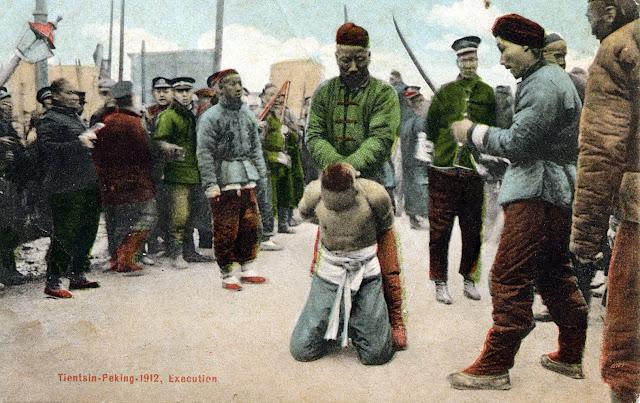 Henrettelse ved halshugning med sværd, Kina/Peking/Tiensin 1912