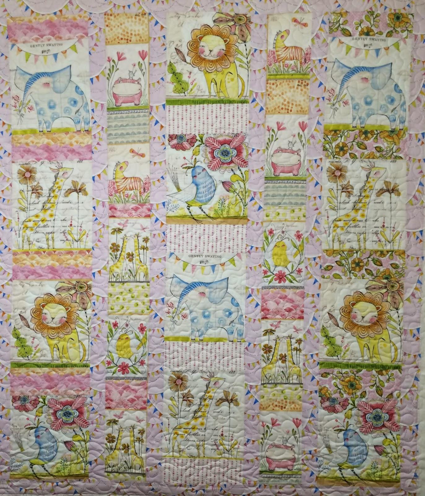 Lisa Boyette's Pink Menagerie Quilt