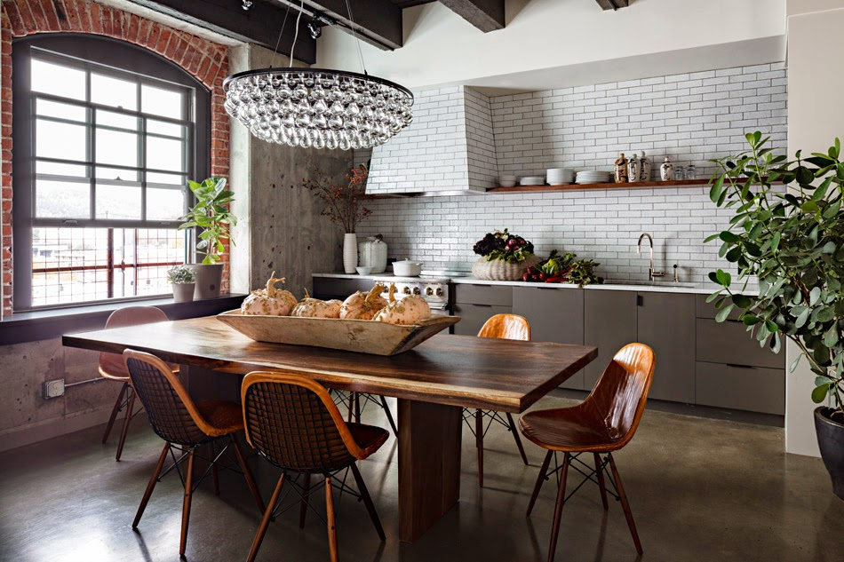 The loft is inside a 19th century warehouse made out of brick and ...