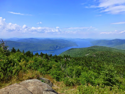 View of northern Lake George from Black Mountain, Saturday 07/26/2014.  The Saratoga Skier and Hiker, first-hand accounts of adventures in the Adirondacks and beyond, and Gore Mountain ski blog.