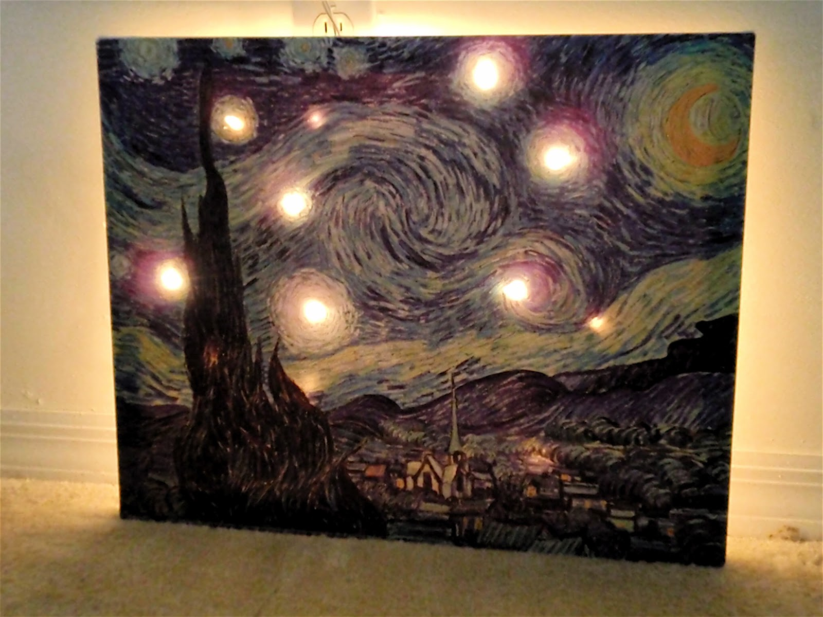 Starry Night Canvas Light | Craft Sew Love Grow: Starry Night ...