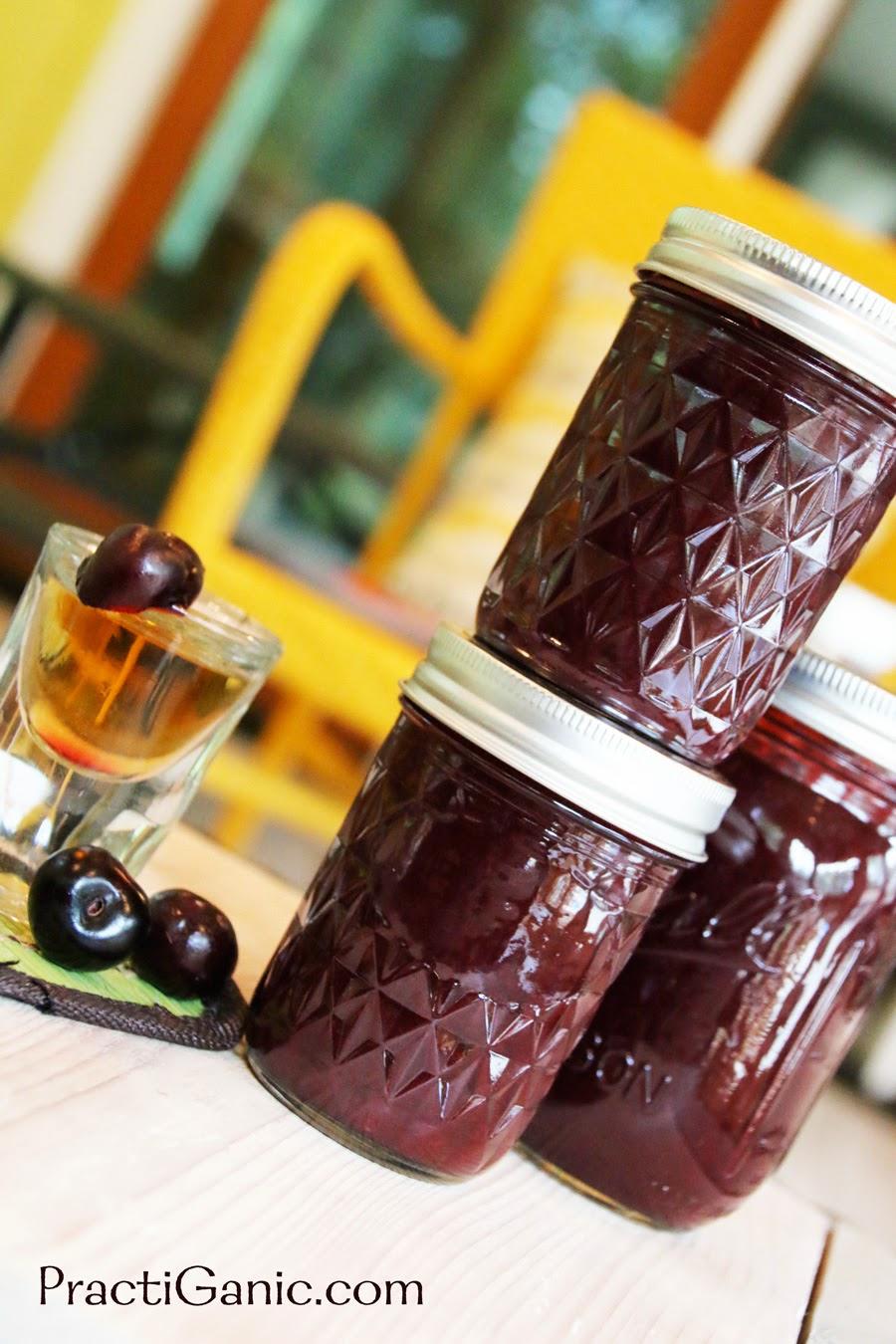 Cherry Ginger Brandy Jam