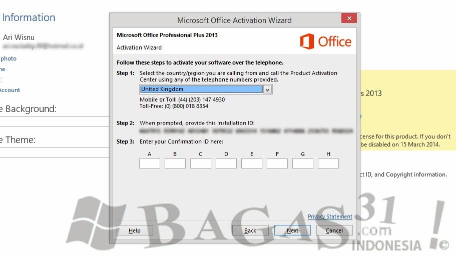 Cara Aktivasi Office 2013 Permanent Melalui Skype 4