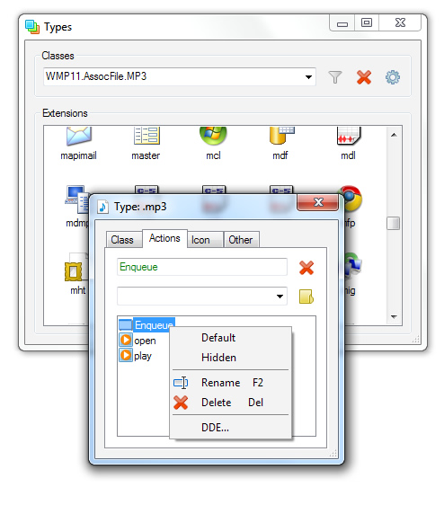 Types, Software para cambiar los iconos de los archivos en Windows 7