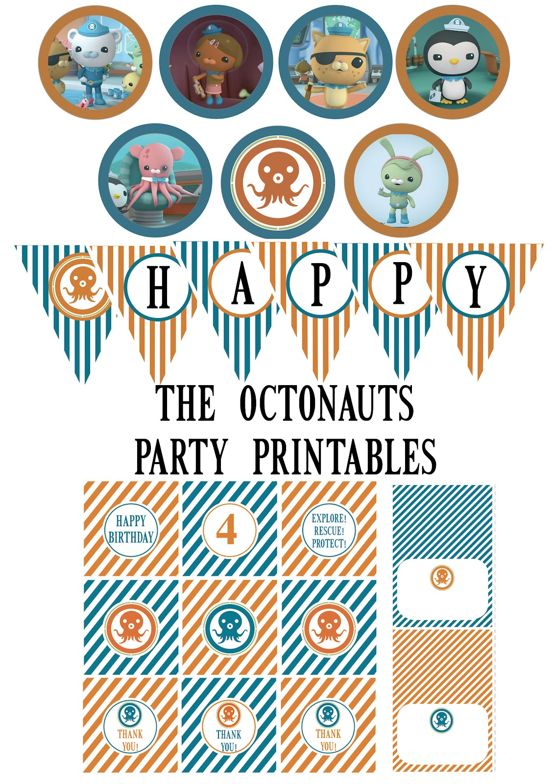 Irresistible image for octonauts printable