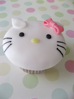 Hello Kitty face cute cupcake