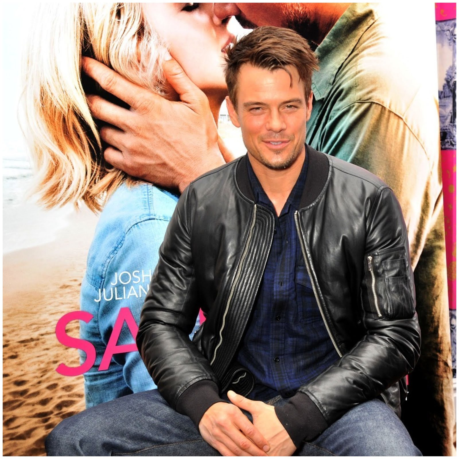 00O00 Menswear Blog Josh Duhamel in Rick Owens leather bomber jacket - Safe Haven photocall The Soho Hotel Wardour Street London February 2013
