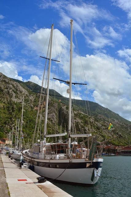 Old Town Kotor sail boat