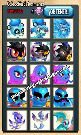 imagen de la coleccion de los mares de monster legends