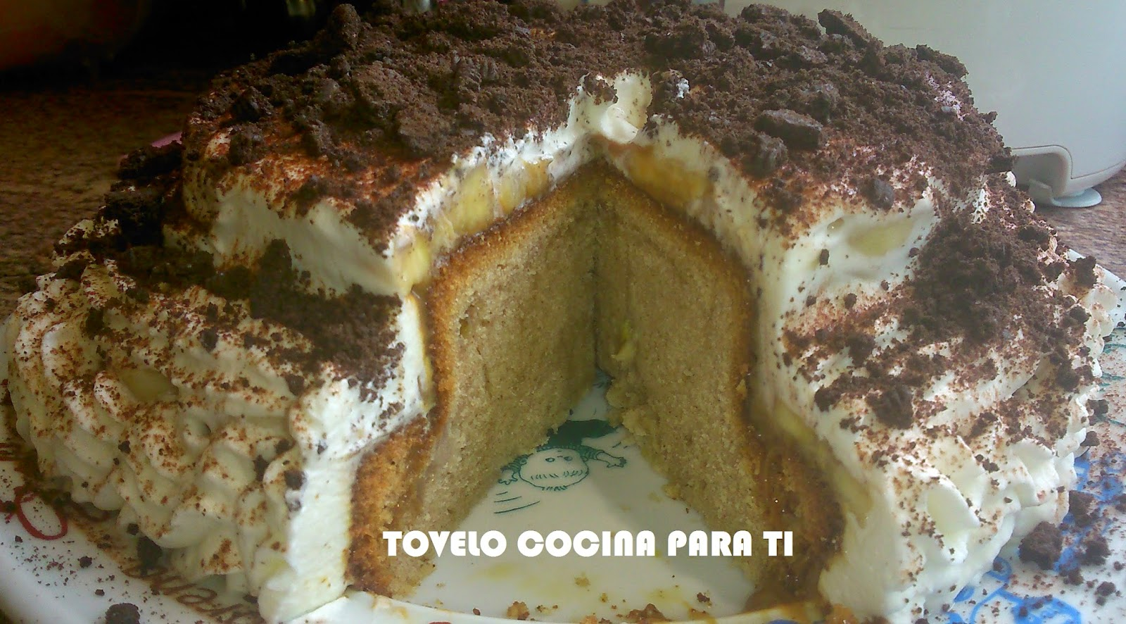 Tarta De Coca De Yogur Banoffee Y Oreo