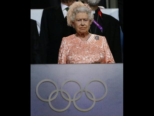 Britain's Queen Elizabeth attends the opening ceremony of the London 2012 Olympic Games REUTERS/KAI PFAFFENBACH