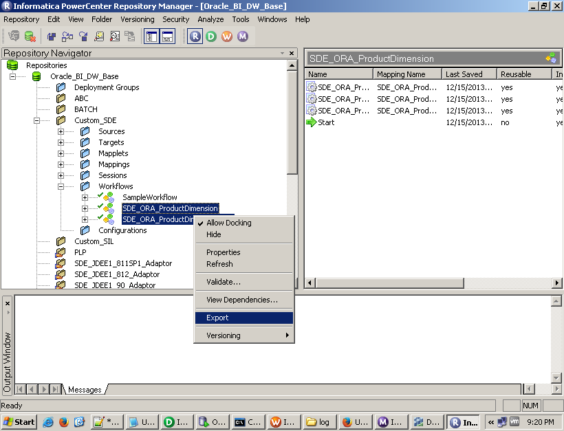 informatica transformations exported to xml how to open