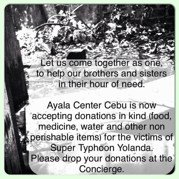 CebuOnlineTV-Yolanda-Donations-Ayala-Center-Cebu