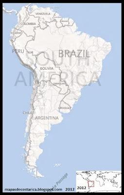 Ubicación de Brasil en Sudamérica, BING