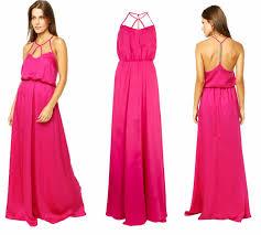 modelo de vestido longo rosa para passagem de ano novo