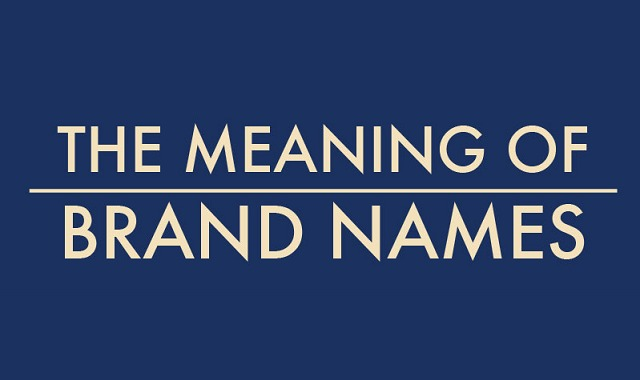 The Meaning Of Brand Names Infographic Visualistan - True meaning brand names