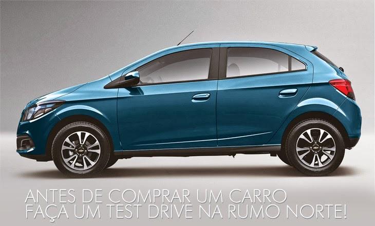 Faça um test drive com um veículo da Chevrolet na Rumo Norte