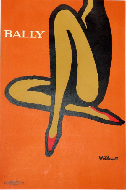 Above The Print That Started It All Bally Legs By French Graphic Designer Bernard Villemot