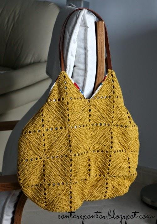 Mala em crochet - crochet bag