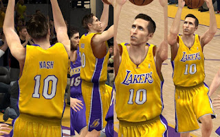 NBA 2K13 Los Angeles Lakers Jersey Mods