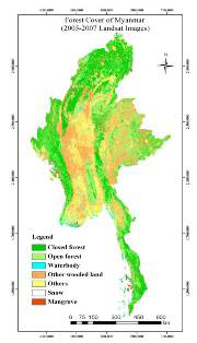 Myanmar Forest Cover Map
