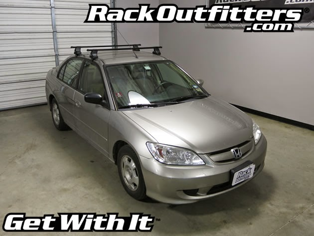 Honda Civic 4 Door Sedan Thule Traverse Square Bar Roof