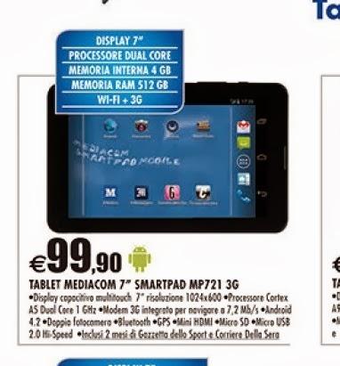Se state cercando un tablet che può effettuare chiamate telefoniche da Auchan fino a febbraio ce ne sta uno in offerta