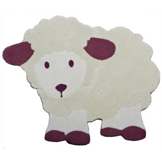 Alfombras infantiles artesanales ovejitas hogar - Alfombras antiacaros ninos ...