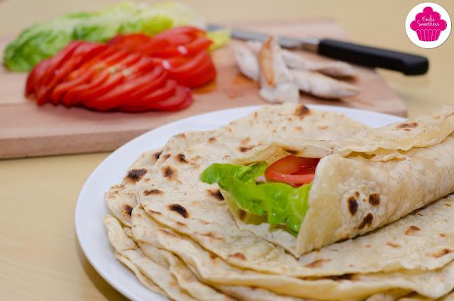 wraps maison - recette des tortillas