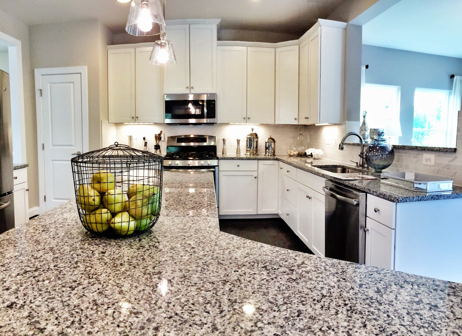 Caledonia Granite Kitchen Citrus Spice A Sight For Forgetful Eyes Ryan Homes Build