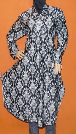 Gamis Hitam Putih Gkm4578 Grosir Baju Muslim Murah Tanah
