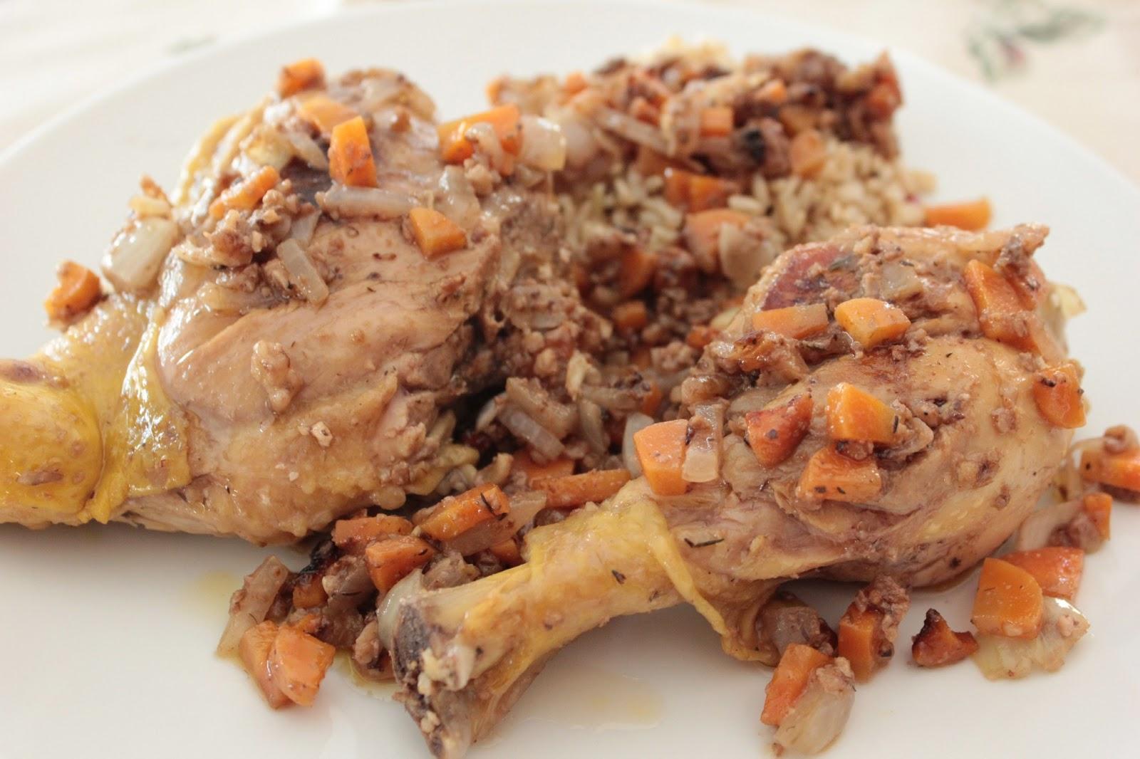 Alrededor de la cocina pollo de corral guisado - Pollo de corral guisado ...