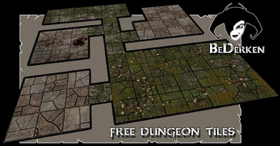 Canny image inside dungeons and dragons tiles printable